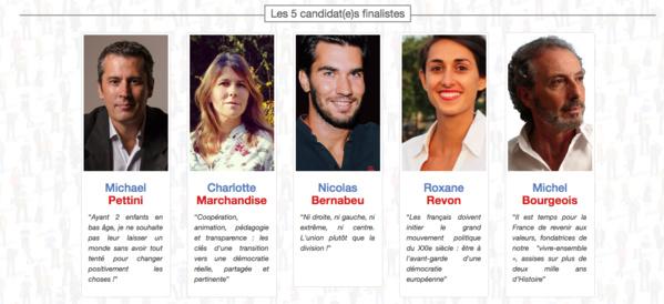 Présidentielle 2017 : Cinq candidats citoyens encore en course sur LaPrimaire.org