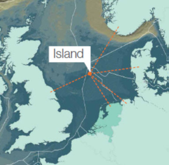 Mer du Nord : une île artificielle pour alimenter 80 millions d'Européens en énergie verte