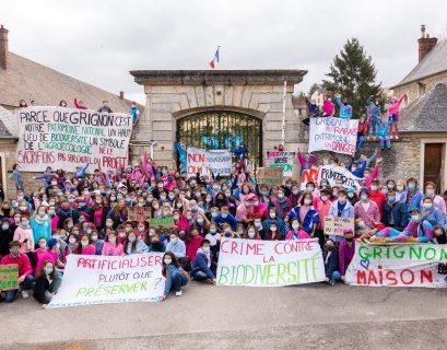 Manifestation des étudiants en mars 2021 à Grignon.