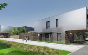 À Brest, un écoquartier de 12 maisons à base de conteneurs maritimes recyclés