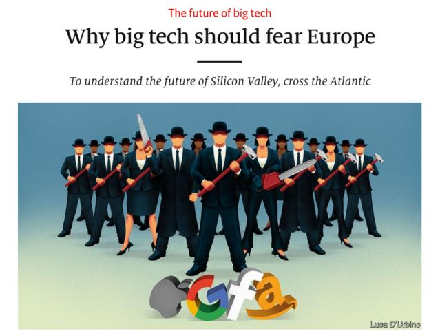 Pourquoi les Gafam peuvent avoir peur de l'Europe