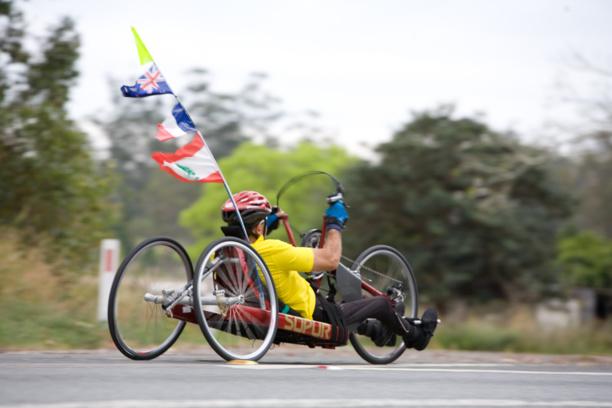 De Pékin à Caen, ce sportif paraplégique veut avaler 12 000 km en handbike