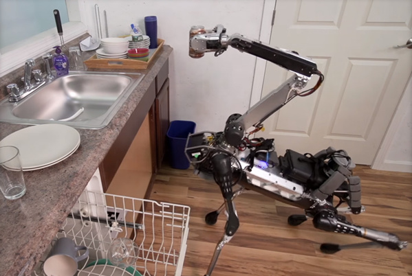 VIDÉO. Bluffant, ce robot de Boston Dynamic's assure toutes les tâches domestiques