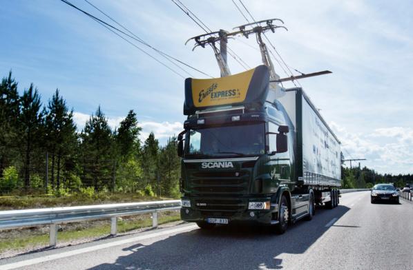 La Suède veut faire rouler ses camions grâce à des lignes électriques aériennes