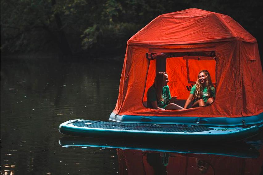 tentes flottantes