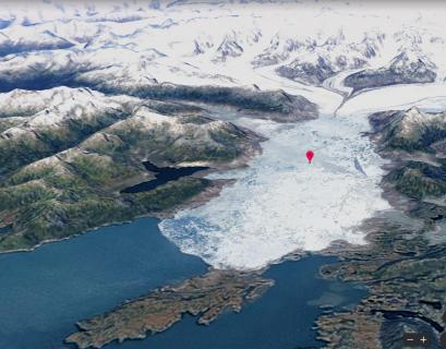 La fonction Timelapse de Google Earth permet de visualiser le réchauffement climatique et la fonte des glaciers en Alaska.