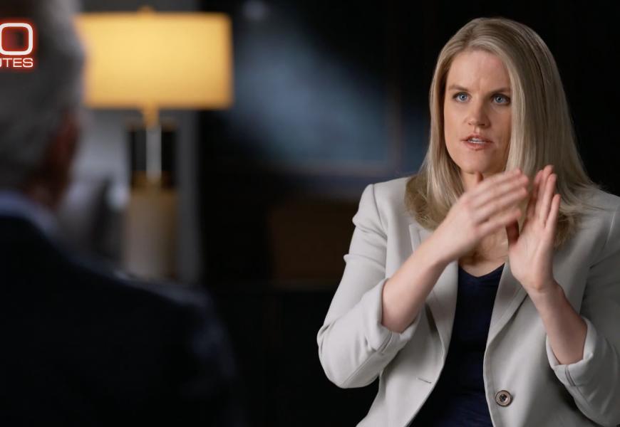 Frances Haugen, ancienne ingénieure chez Facebook, accorde une interview choc à la chaine américaine CBS.