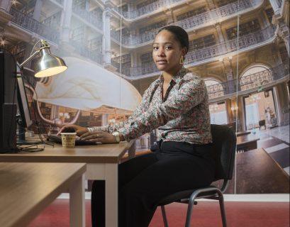 Brittany Angue, 26 ans étudiante de la Digitale Académie.