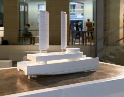 """Maquette du navire """"Avenir"""", destiné à sauver des migrants."""