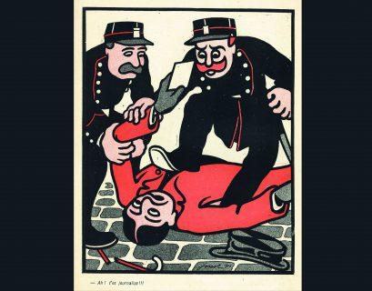 """Les violences policières appartiennent aussi à l'histoire… la preuve avec cette caricature de Jossot pour """"L'Assiette au beurre"""", en 1904."""