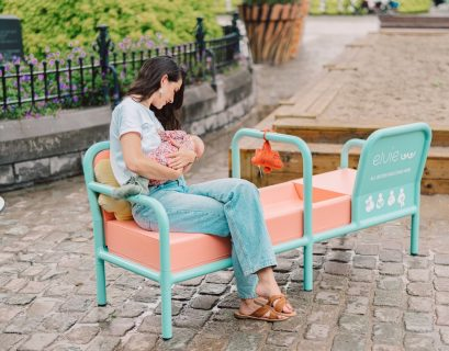 Ce banc vise à briser le taboue de l'allaitement en public.