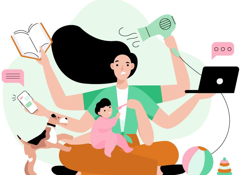 En France, les inégalités femmes-hommes baissent, mais les premières consacrent encore 2h37 aux tâches domestiques. Les 2e 2h10.