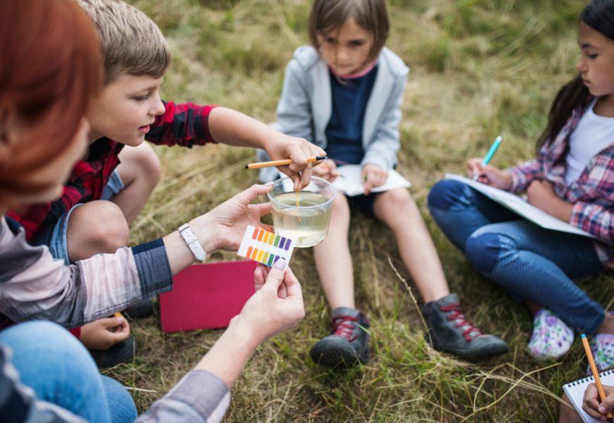 L'école en plein air permet de baisser le stress des enfants, accroit la motricité ou la coopération.