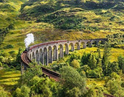 Glasgow en train